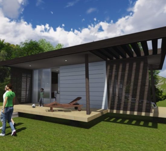 Container refabricated housing